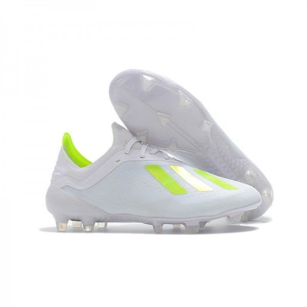 Men's Adidas X 18.1 FG Firm Ground Soccer Cleats White Yellow