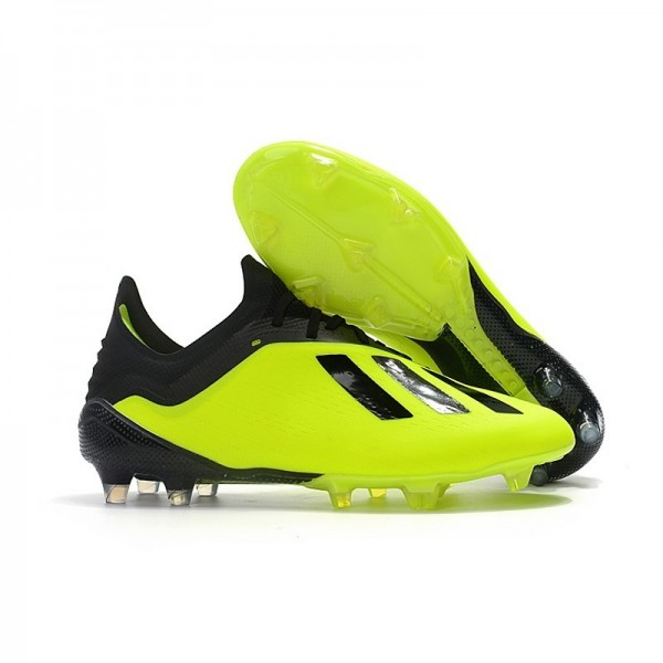 Men's Adidas X 18.1 FG Firm Ground Soccer Cleats Yellow Black