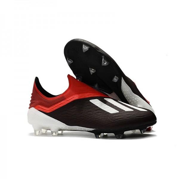 Men's Adidas X 18+ FG Soccer Boots Black Red White