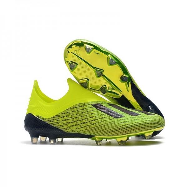 Men's Adidas X 18+ FG Soccer Boots Electricity Green Black