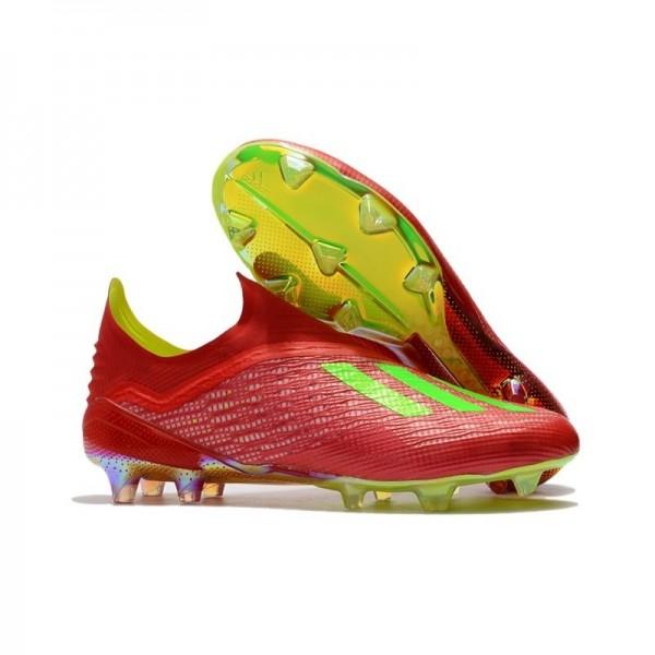 Men's Adidas X 18+ FG Soccer Boots Red Green