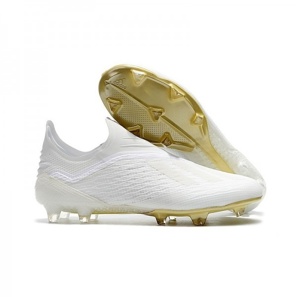 Men's Adidas X 18+ FG Soccer Boots White