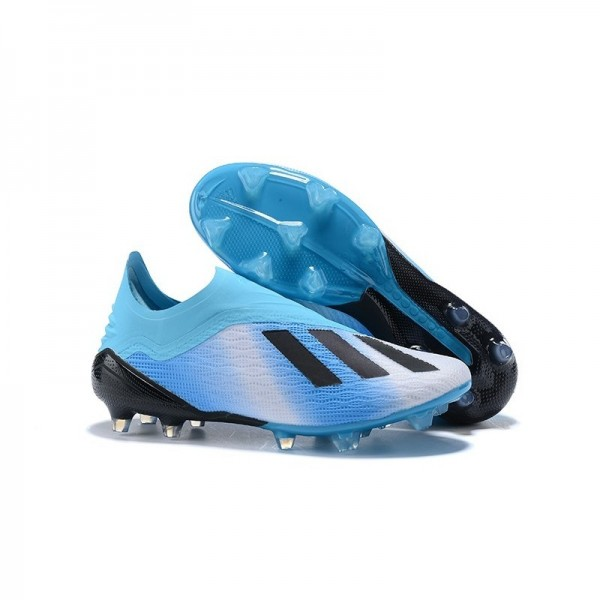 Men's Adidas X 18+ FG Firm Ground Cleats In Blue Black