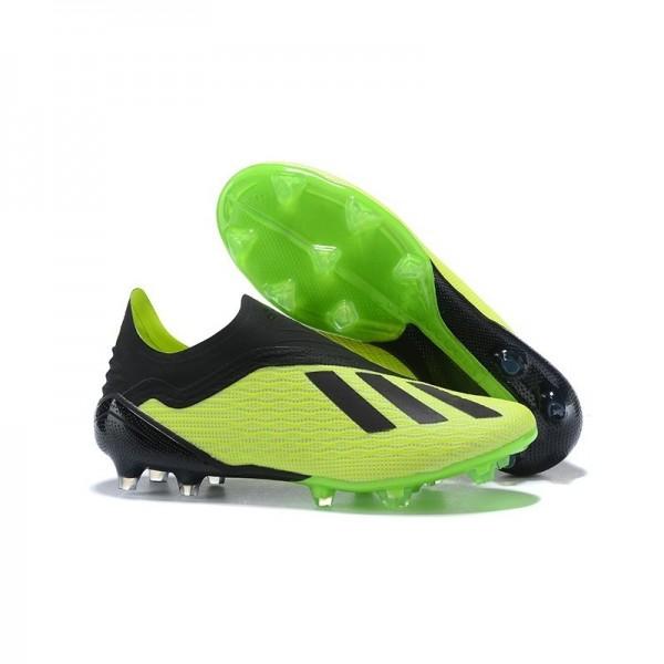 Men's Adidas X 18+ FG Firm Ground Cleats Green Black