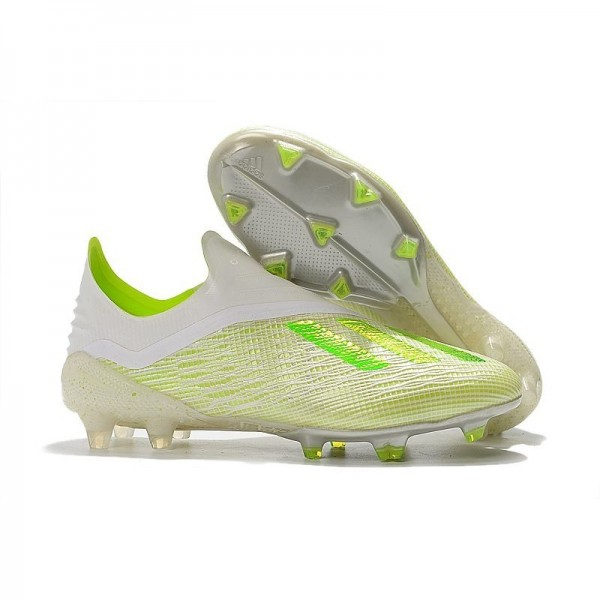 Men's Adidas X 18+ FG Firm Ground Cleats White Green