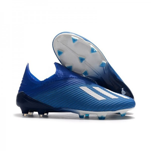 Men's Adidas X 19+ FG Firm Ground Shoes Blue White