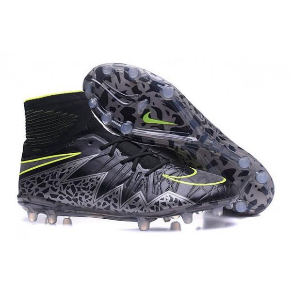 2016 Men's Nike HyperVenom Phantom II FG Football Boots Black Hematite Volt