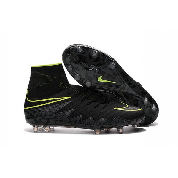 2016 Men's Nike HyperVenom Phantom II FG Football Boots Black Volt