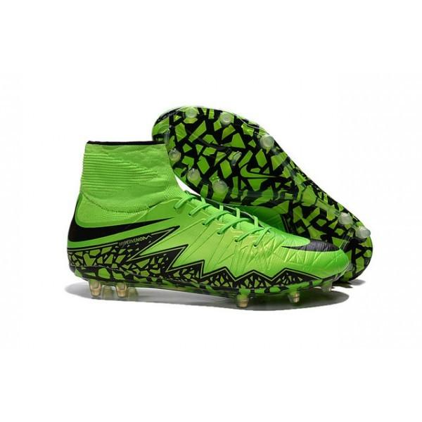 2016 Men's Nike HyperVenom Phantom II FG Football Boots Green Black