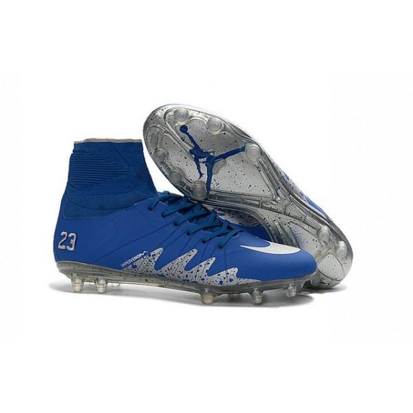 2016 Men's Nike HyperVenom Phantom II FG Football Boots Neymar x Jordan Blue Silver