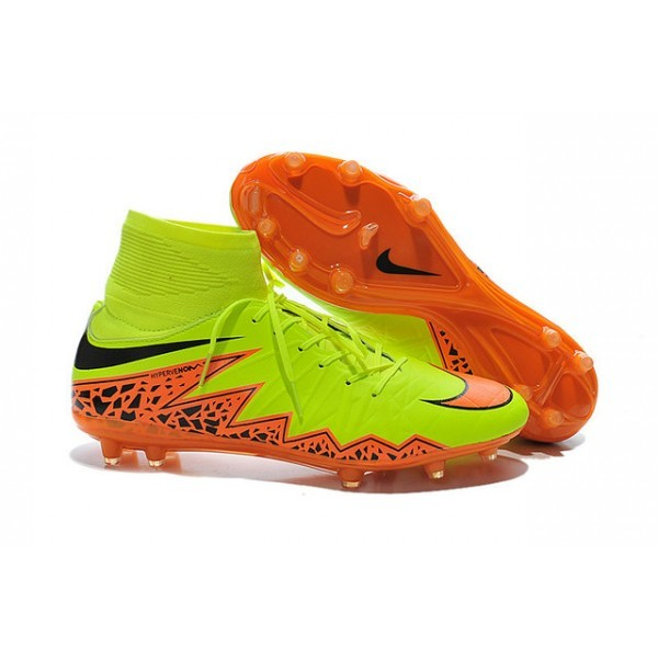 2016 Men's Nike HyperVenom Phantom II FG Football Boots Volt Orange Black