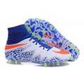 Men's Nike HyperVenom Phantom II FG Firm-Ground Soccer Cleats Blue White Orange
