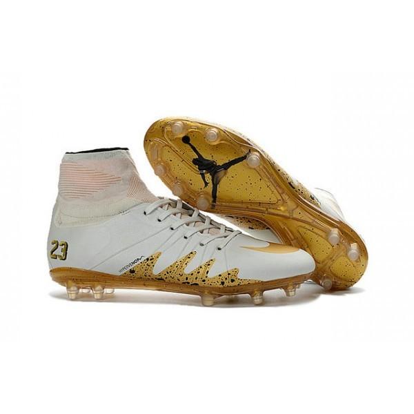 Men's Nike HyperVenom Phantom II FG Firm-Ground Soccer Cleats White Gold