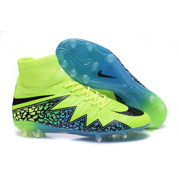 Men's Nike HyperVenom Phantom II FG Firm-Ground Soccer Cleats Volt Blue Black