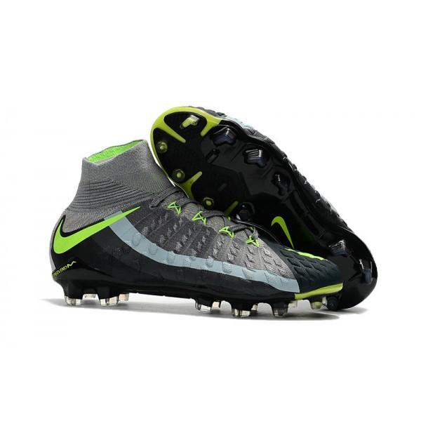 Men's Nike Hypervenom Phantom III FG Men Soccer Cleats Grey Black Green