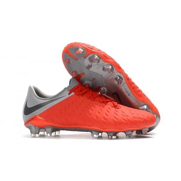 Men's Nike Hypervenom Phantom 3 FG Soccer Shoes Red Grey