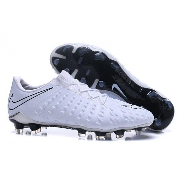 Men's Nike Hypervenom Phantom 3 FG Soccer Shoes White Black