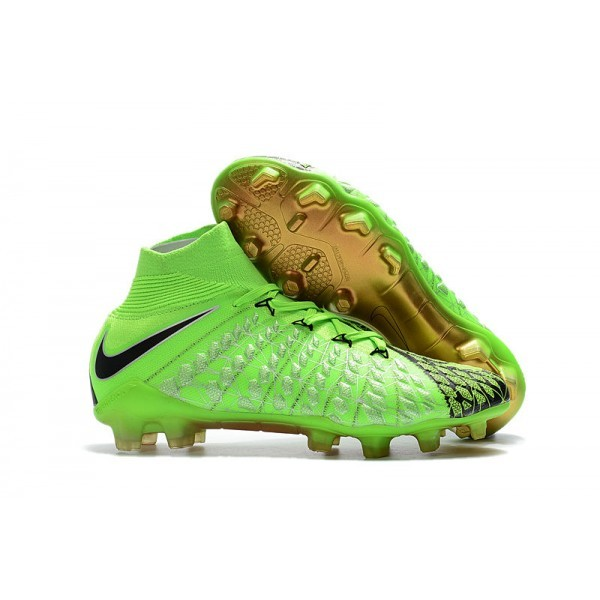 Men's Nike Hypervenom Phantom III DF EA Sports Green Black Gold Football Cleats