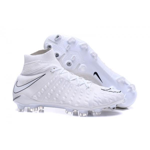 Men's Nike Hypervenom Phantom III FG Football Cleats All White