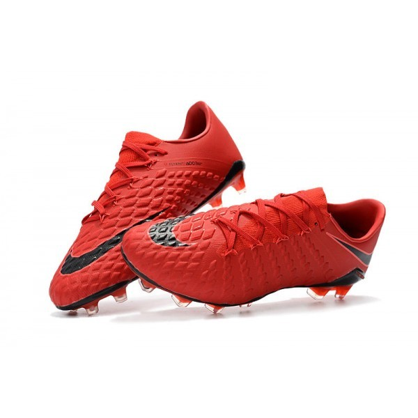 Men's Nike Hypervenom Phantom III FG Football Cleats University Red White