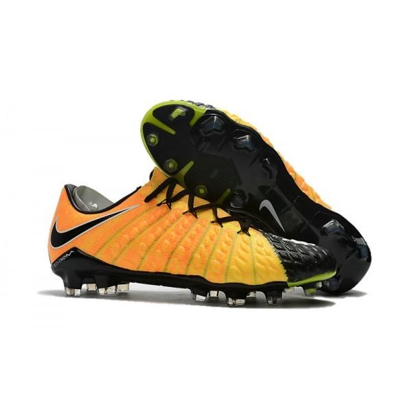Men's Nike Hypervenom Phantom III FG Football Cleats Yellow Black