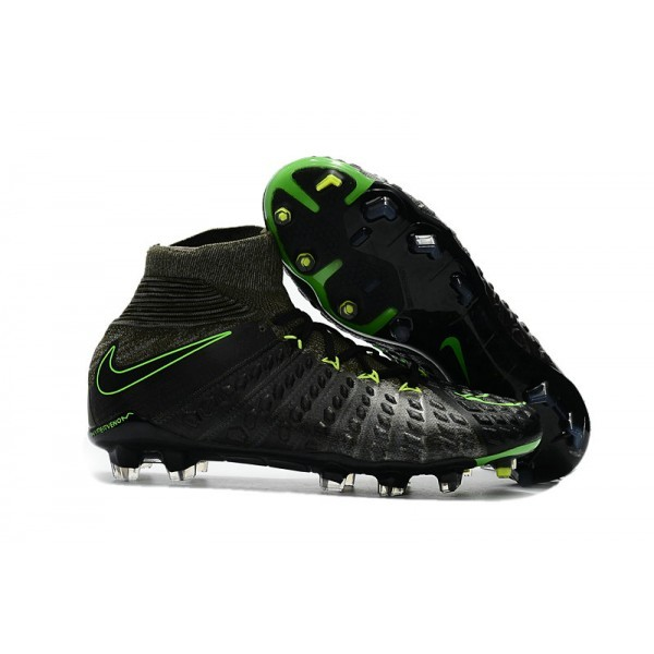 Men's Nike Soccer Cleats 2017 Men's Nike Hypervenom Phantom 3 FG Black Volt