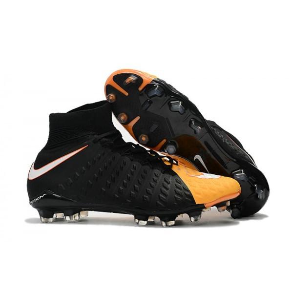 Men's Nike Soccer Cleats 2017 Men's Nike Hypervenom Phantom 3 FG Black White Orange