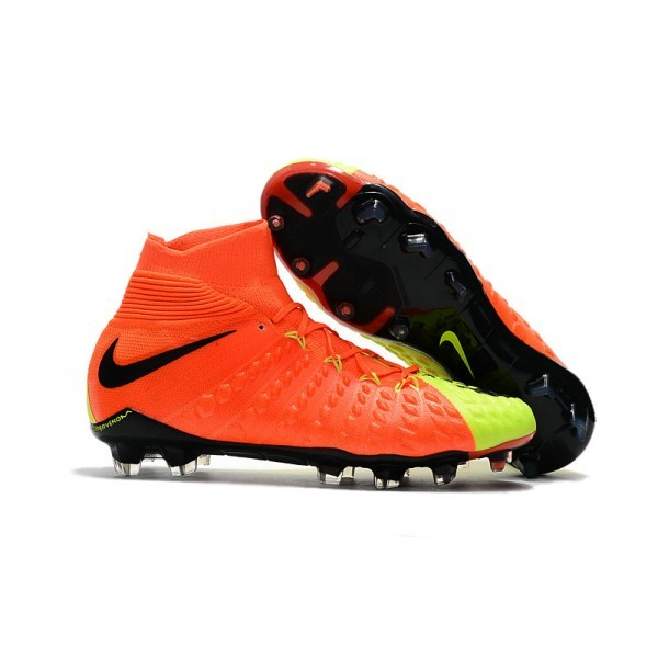 Men's Nike Soccer Cleats 2017 Men's Nike Hypervenom Phantom 3 FG Orange Volt Black