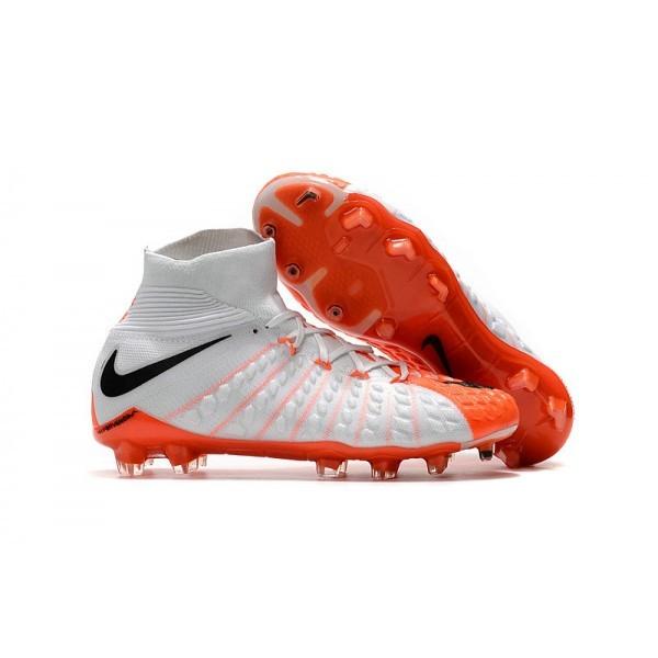 Men's Nike Soccer Cleats 2017 Men's Nike Hypervenom Phantom 3 FG White Orange Black