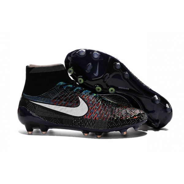 2016 Men's Nike Magista Obra Firm-Ground Soccer Shoes BHM Black White Blue Red