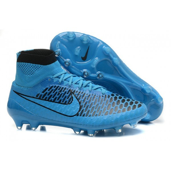 2016 Men's Nike Magista Obra Firm-Ground Soccer Shoes Turquoise Blue Black