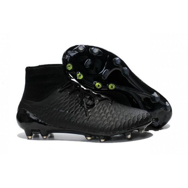 2016 Men's Nike Magista Obra Firm-Ground Soccer Shoes All Black