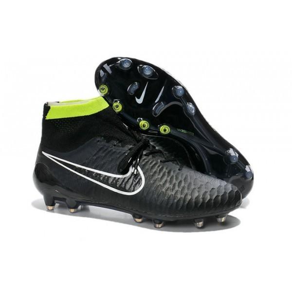 Men's Nike Magista Obra FG Soccer Boots Black Volt White