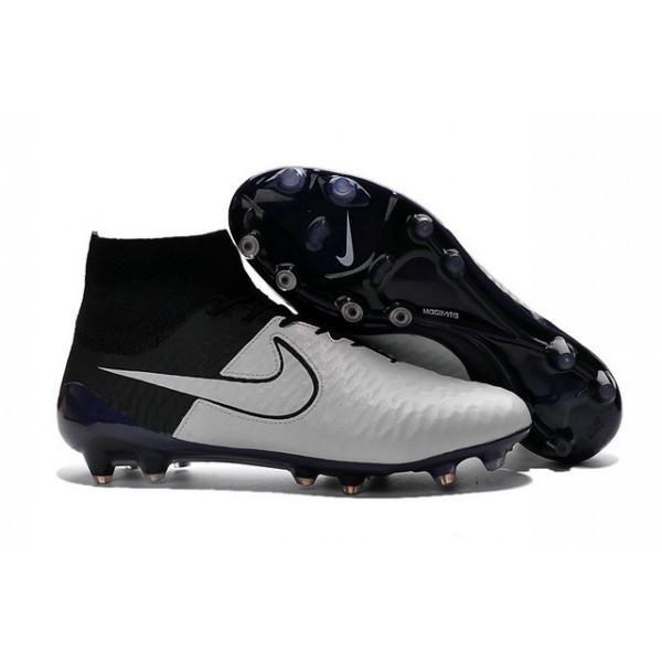 Men's Nike Magista Obra FG Soccer Boots Leather Light Bone Light Bone Black Black
