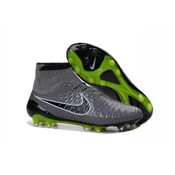 Men's Nike Magista Obra FG Soccer Cleats Low Price Grey Black Green