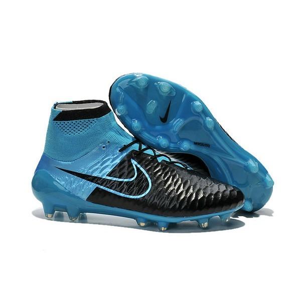 Men's Nike Magista Obra FG Soccer Cleats Low Price Leather Blue Black