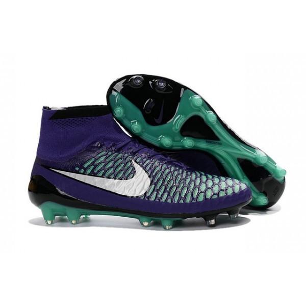 Men's Nike Magista Obra FG Soccer Cleats Low Price Purple White Green Black