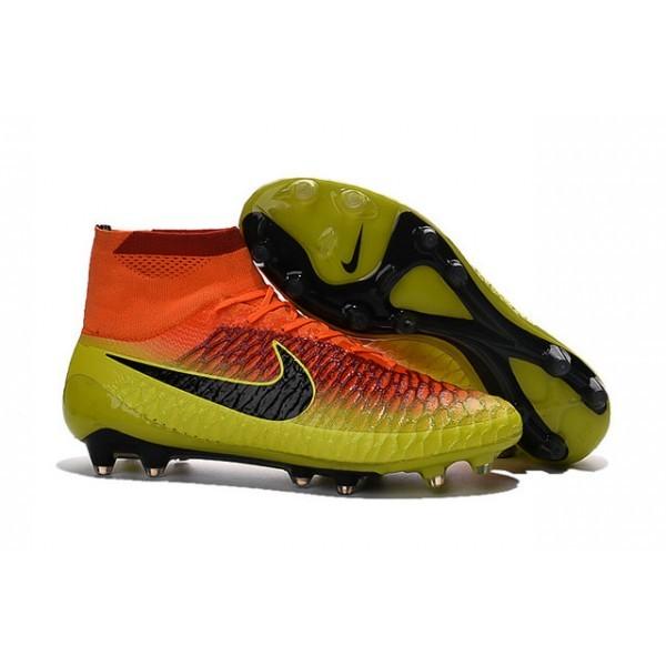 Men's Nike Magista Obra FG Soccer Cleats Low Price Total Crimson Black Bright Citrus