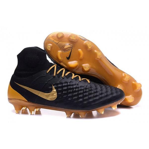 Men's Nike Magista Obra II FG Soccer Boots In Black Gold