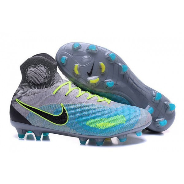 Men's Nike Magista Obra II FG Soccer Boots Pure Platinum Black Ghost Green