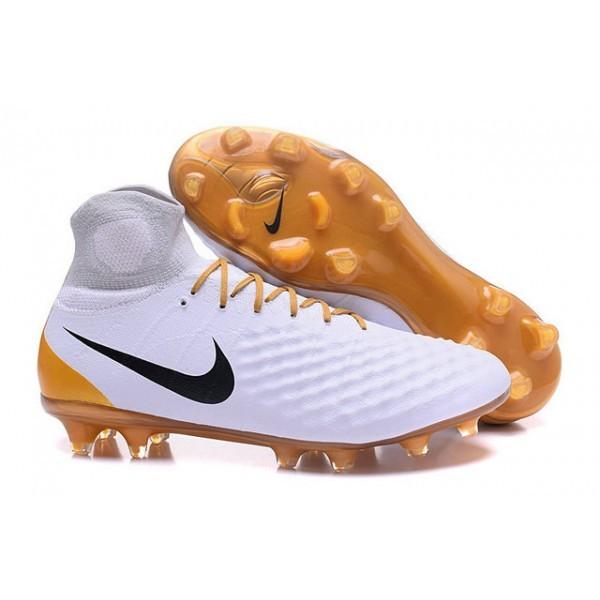 Men's Nike Magista Obra II FG Soccer Boots White Gold