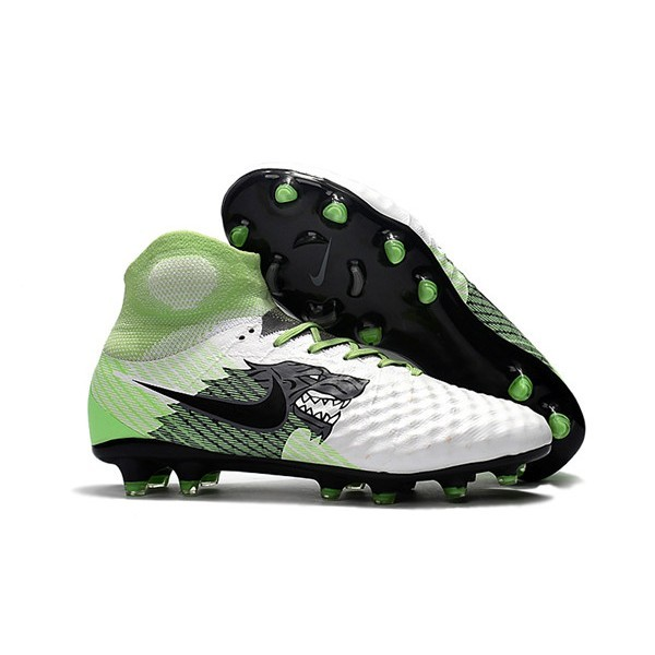 Men's Nike Magista Obra II FG Soccer Boots White Green Black