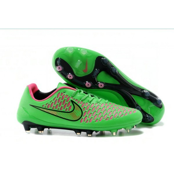 2016 Men's Nike Magista Opus FG Soccer Cleats Green Black Pink