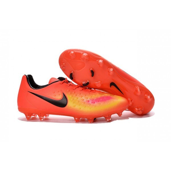 2016 Men's Nike Magista Opus II FG Soccer Cleats Orange Yellow Pink Black