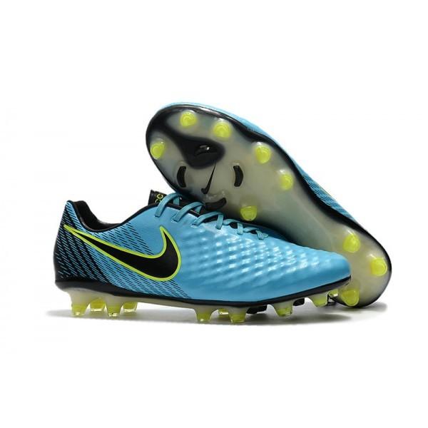 2017 Men's Nike Magista Opus II FG Soccer Cleats Blue Volt Black