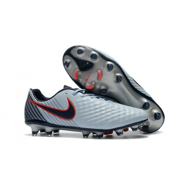 2017 Men's Nike Magista Opus II FG Soccer Cleats Grey Black Red