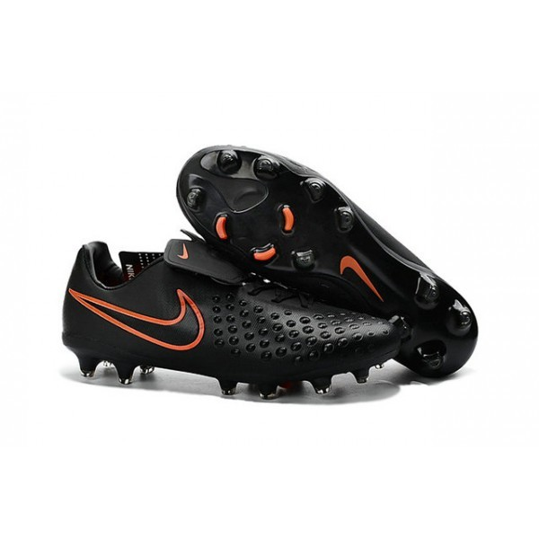 Men's Nike Magista Opus II FG Football Shoes Black Total Crimson