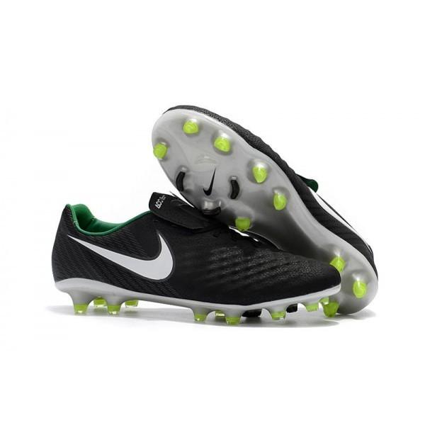 Men's Nike Magista Opus II FG Football Shoes Black White Dark Grey