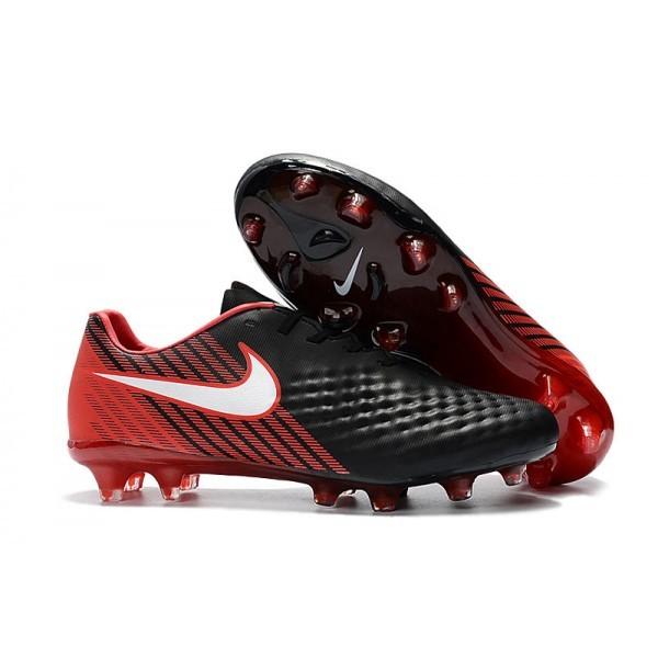 Men's Nike Magista Opus II FG Football Shoes Black White Hyper Crimson