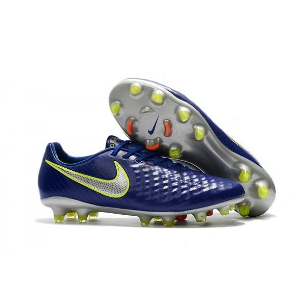 Men's Nike Magista Opus II FG Football Shoes Blue Volt Silver